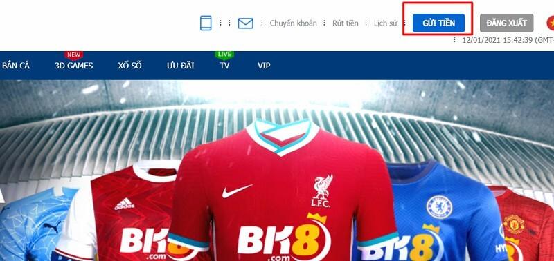 Để gửi tiền vào tài khoản BK8 bằng AP Vietnam bạn cần đăng nhập