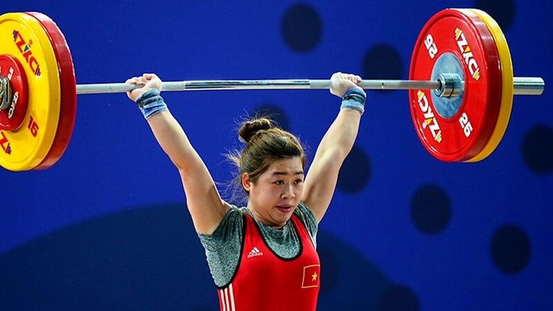 Nữ vận động viên Hoàng Thị Duyên