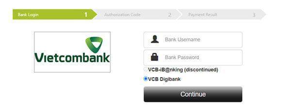 Nhập tài khoản Bank